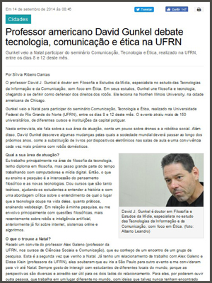Interview in Portal Noar - Natal, Brazil
