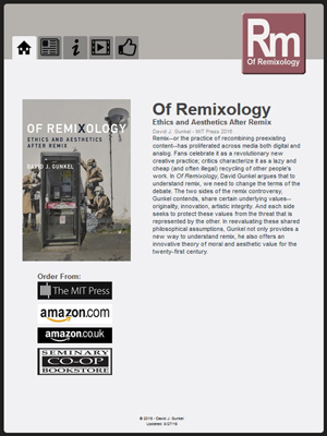 Of Remixology - Book Website