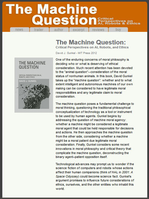 The Machine Question - Book Website